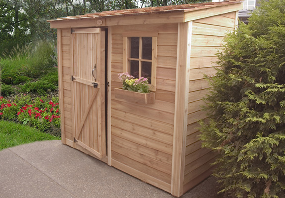 Outdoor Living 8'x4' Space Saver Shed